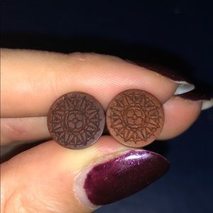 Jewelry - Wooden 0 gauge earrings